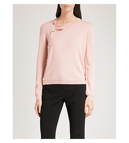 ALTUZARRA Minamoto button-detail merino wool sweater (Blossom+pink