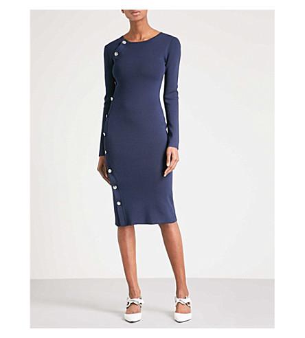 ALTUZARRA Arzel button-detail knitted dress (Navy