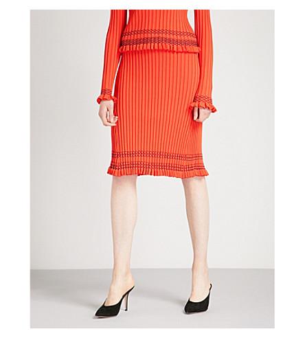 ALTUZARRA Gwendolyn knitted skirt (Persimmon