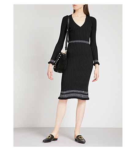 ALTUZARRA Isolde ribbed-knit dress (Black