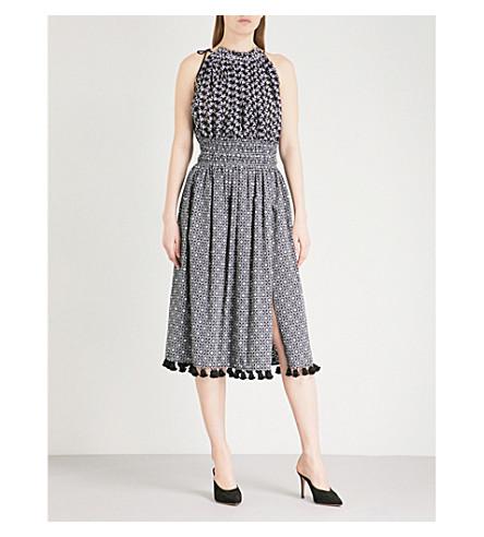 ALTUZARRA Vivienne cotton and silk dress (Black