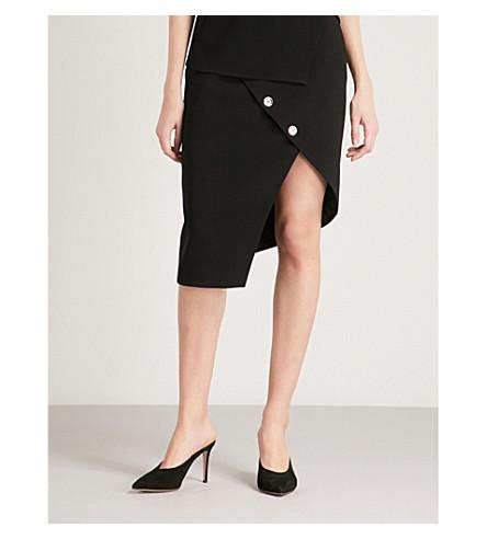 ALTUZARRA Paul asymmetric crepe skirt (Black