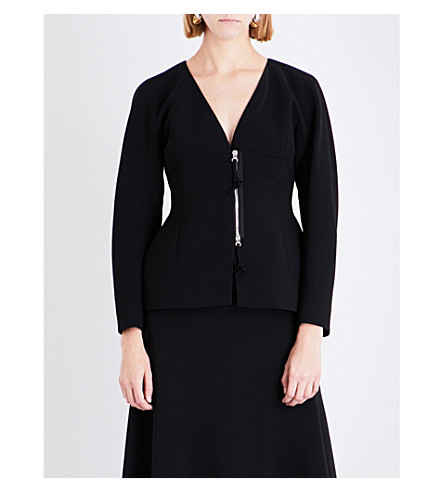 ALTUZARRA Campion peplum crepe jacket (Black