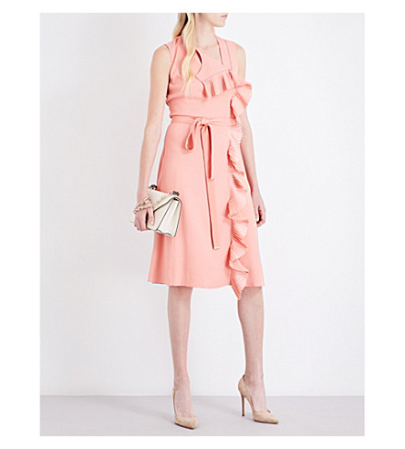 ALTUZARRA Lavinia crepe dress (Flamingo