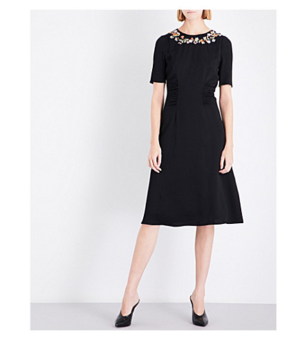 ALTUZARRA Sylvia silk-crepe dress (Black