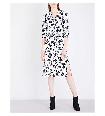 ALTUZARRA Aimee crepe dress (Natural+white