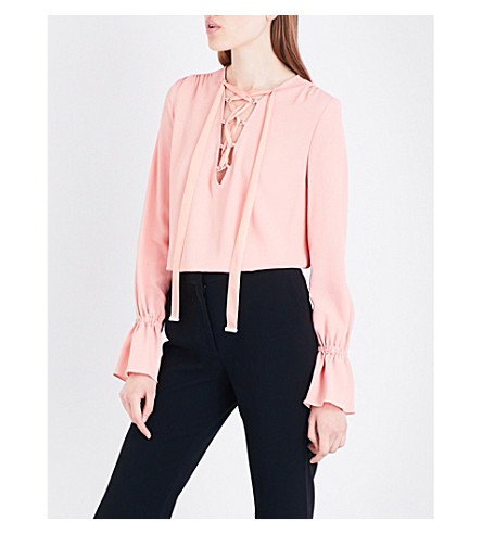 ALTUZARRA Capulet silk-blend blouse (Flamingo
