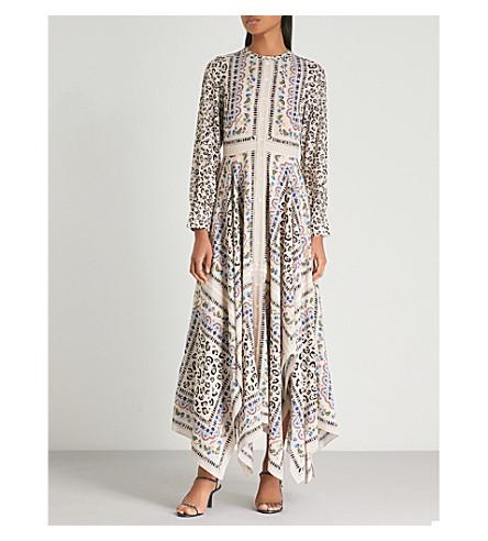 ALTUZARRA Tamourine printed silk midi dress (Fawn