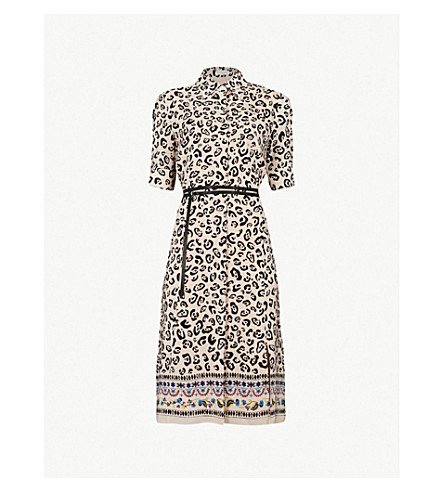 ALTUZARRA Kieran leopard-print silk-crepe dress (Fawn