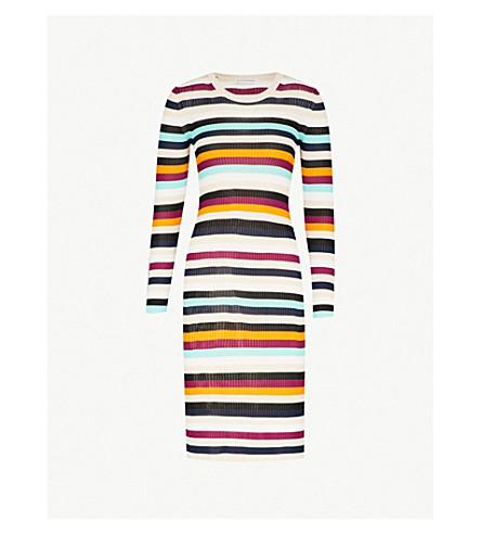 ALTUZARRA Stills striped crepe dress (Fawn
