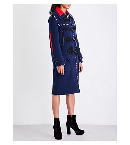 ALTUZARRA Gardano button-detail wool duffle coat (Midnight