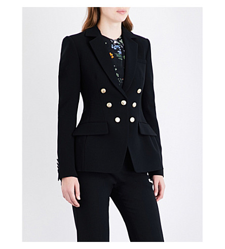 ALTUZARRA Ward double-breasted crepe blazer (Black