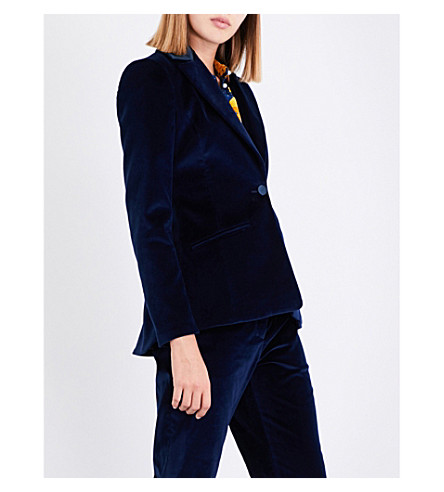 ALTUZARRA Acacia single-breasted velvet jacket (Midnight