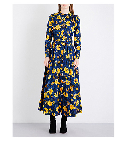 ALTUZARRA Melia floral silk-jacquard dress (Midnight