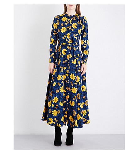 ALTUZARRA Melia floral silk-jacquard dress (Midnight