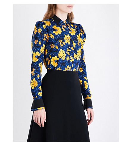 ALTUZARRA Marlowe floral silk-jacquard shirt (Midnight