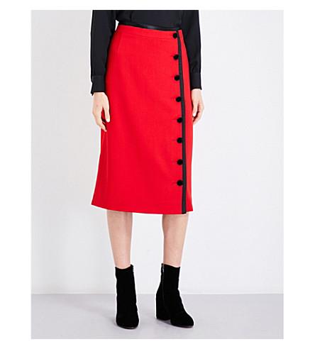 ALTUZARRA Christofor wool midi skirt (Scarlet
