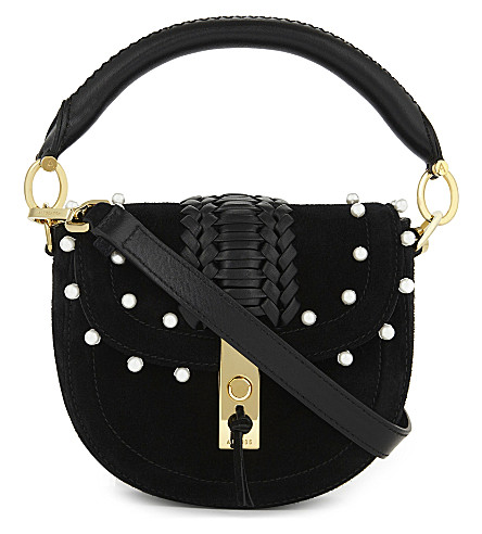ALTUZARRA Ghianda suede saddle bag (Black