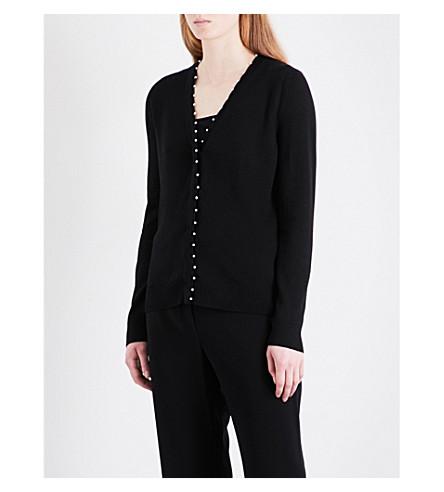 ALTUZARRA Agnella faux-pearl embellished wool cardigan (Black