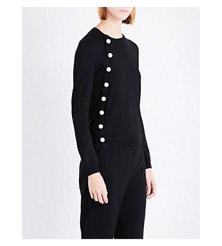 ALTUZARRA Minamoto faux-pearl-detail wool jumper (Black