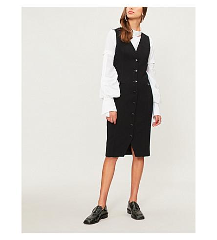 ALTUZARRA Naomi button-down stretch-crepe dress (Black