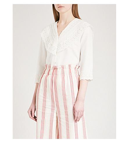 VILSHENKO Adorlee sailor-collar cotton blouse (Ivory