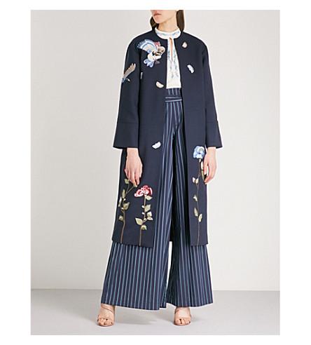 VILSHENKO Laura wool-blend coat (Navy/multi
