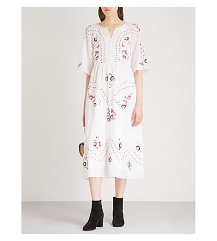 VILSHENKO Geneve cotton midi dress (Ivory/multi