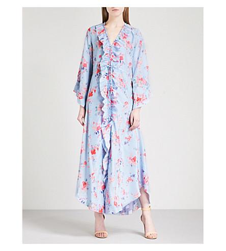VILSHENKO Maddison ruffled crepe maxi dress (Lilac/multi