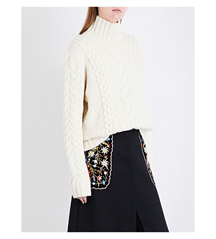 VILSHENKO Sarah cable-knit wool and cashmere-blend jumper (Cream