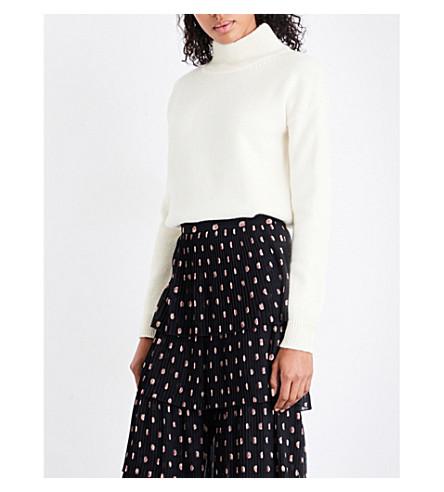 VILSHENKO Camile wool and cashmere-blend turtleneck jumper (Cream