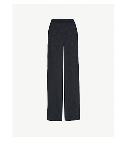 VILSHENKO Clara wide-leg mid-rise crepe trousers (Navy