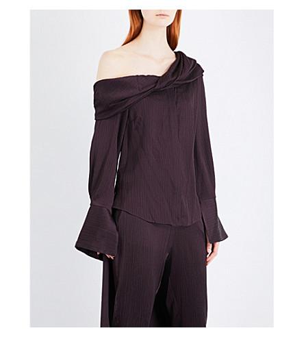 HELLESSY Cala silk top (Aubergine