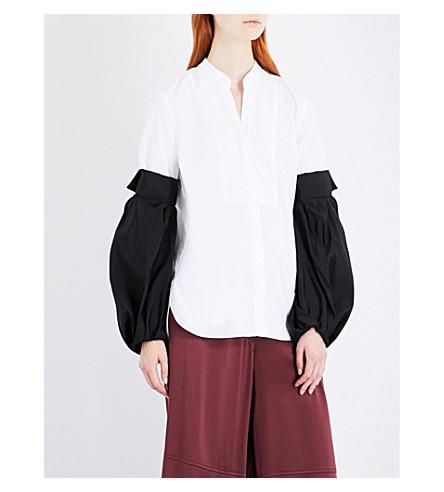 HELLESSY Tennant cotton and silk shirt (White
