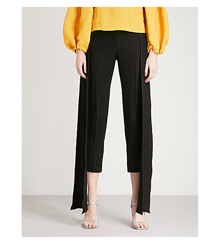 HELLESSY Movaje tapered high-rise woven trousers (Black