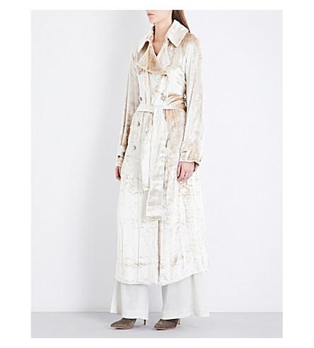 GABRIELA HEARST Cabot velvet trench coat (Light+gold