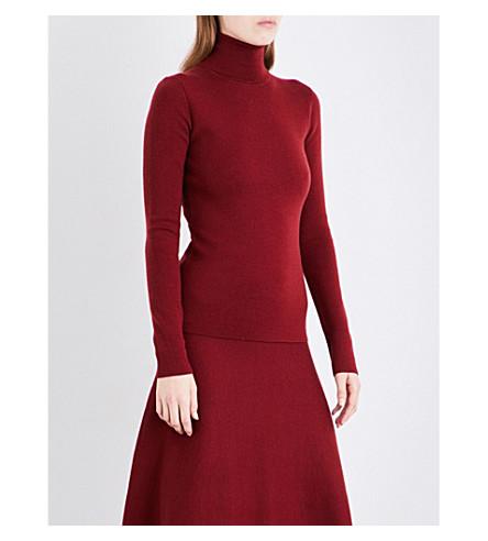 GABRIELA HEARST May turtleneck wool-blend jumper (Burgundy