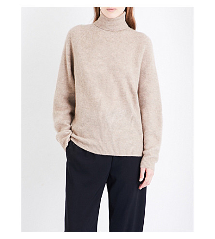 GABRIELA HEARST Gurley turtleneck cashmere and silk-blend jumper (Brown