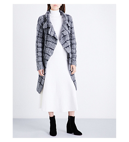 GABRIELA HEARST Checked cashmere-blend cardigan (Grey/navy