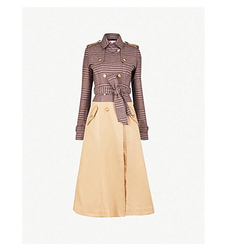 GABRIELA HEARST Armonia double-breasted wool-blend trench coat (Khaki/navy