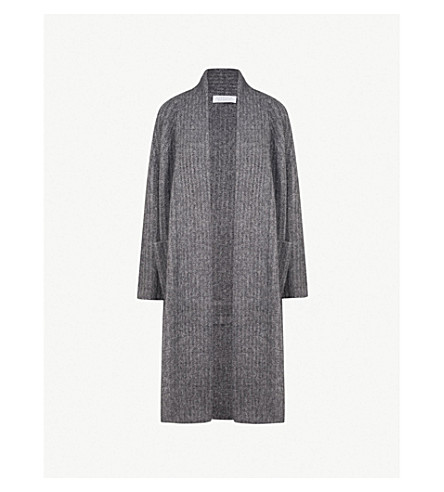 GABRIELA HEARST Gunnersbury cashmere and silk-blend midi cardigan (Charcoal