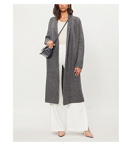 GABRIELA HEARST Gunnersbury cashmere and silk-blend midi cardigan (Charcoal
