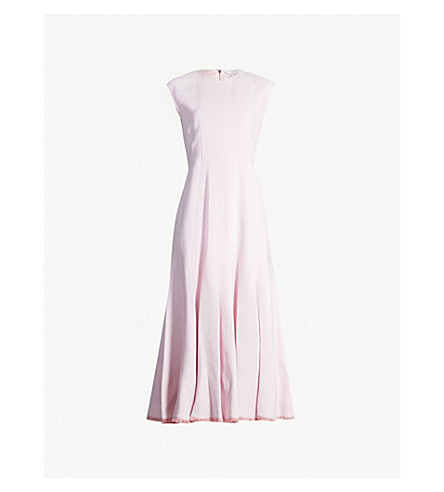 GABRIELA HEARST Crowther crepe midi dress (Pink