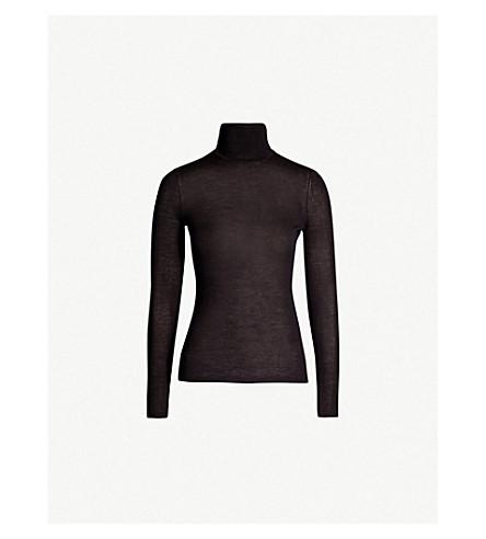 GABRIELA HEARST Cashmere and silk-blend turtleneck top (Black