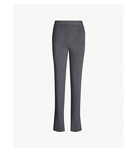 GABRIELA HEARST Diego high-rise wide cashmere trousers (Charcoal