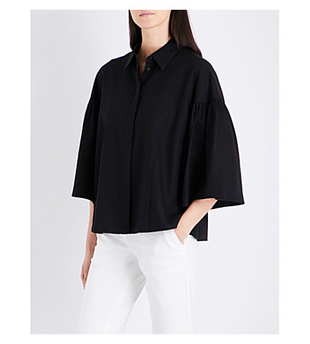 CO Bell sleeve cotton blouse (Black