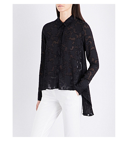 CO Fil-coupé shirt (Black