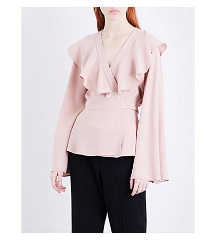 CO Ruffled crepe blouse (Blush