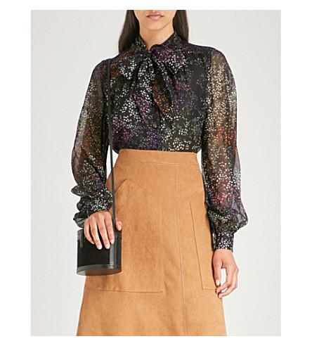 Outlet Classic Cheap 2018 CO Floral-print silk-chiffon blouse Black AEktot
