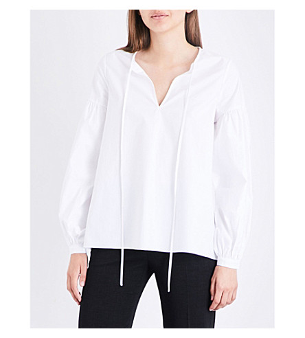 CO Keyhole cotton shirt (White
